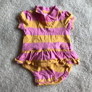 5/$25 CHILDREN'S PLACE golf shirt romper stripes